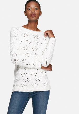 VILA Drops Sweater Knitwear White