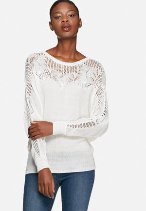 VILA Friday Knit Knitwear Cream
