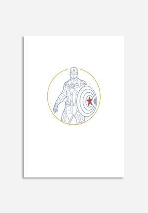 Sekonik Captain America - Marvel Art