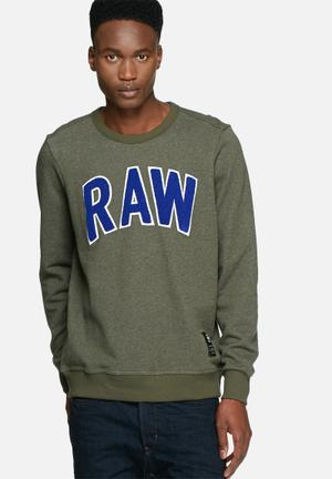 G-Star RAW Warth Sweater Hoodies & Sweatshirts Green