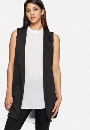 New Look Sleeveless Ponte Blazer Jackets Black