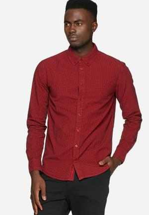 GUESS Gingham Shirt Red