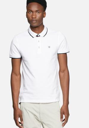 Jack & Jones Premium Paulos Polo T-Shirts & Vests White