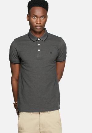 Jack & Jones Premium Paulos Polo T-Shirts & Vests Charcoal