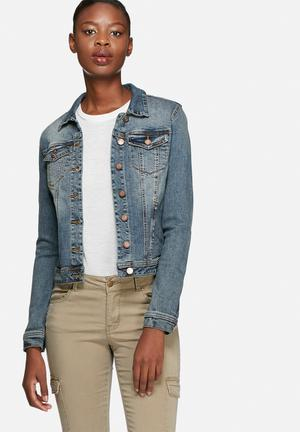VILA Viper Denim Jacket Medium Blue Denim