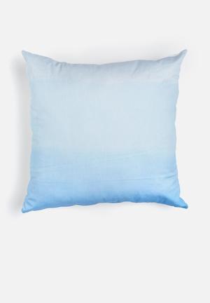 Sixth Floor Deep Ocean Printed Cushion Cotton Twill