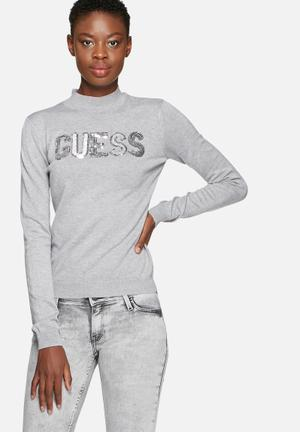 GUESS Sparkle Sweater Knitwear Grey