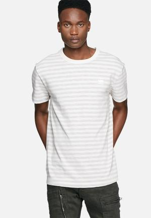 G-Star RAW Phaen Stripe Tee T-Shirts & Vests Grey