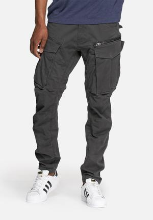 G-Star RAW Rovic Zip 3D Tapered Utility Pants & Chinos Charcoal