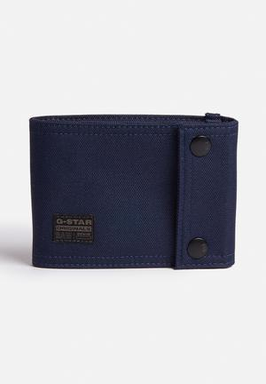 G-Star RAW Cart Snap Wallet  Blue