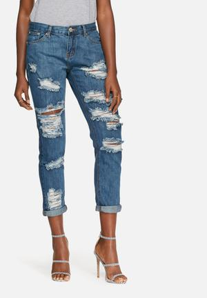 Glamorous Distressed Jeans Blue