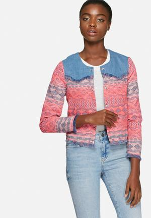 Vero Moda Aquila Blazer Jackets Pink & Blue