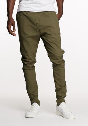 Basicthread Deco Pants Olive
