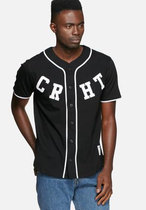 Carhartt WIP Baseball Tee T-Shirts & Vests Black