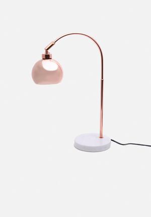 Illumina Acro  Lamp Lighting Copper Metal & Marble