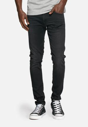 Edwin Ed-85 Slim Tapered Jeans Black