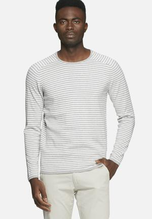 Jack & Jones CORE Lake Knit Knitwear Light Grey Melange