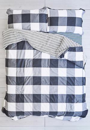 Cotton Cloud Check Duvet Set Bedding 100% Cotton & 500 Thread Count