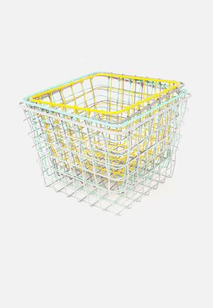 Present Time Linea Basket Set Accessories Metal Wire