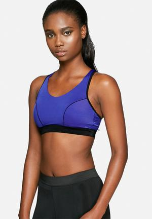 Marie Meili Sports Bra Crop Top Blue & Black
