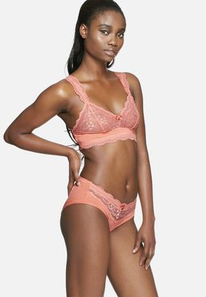 Marie Meili Dawn Hipsters Panties Coral