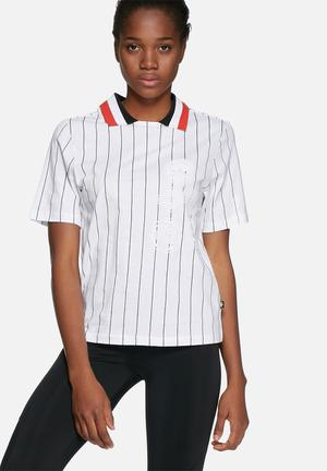 Adidas Originals Tennis Polo Tee T-Shirts White, Black & Red