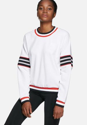 Adidas Originals Tennis Sweater Hoodies & Jackets White, Black & Red
