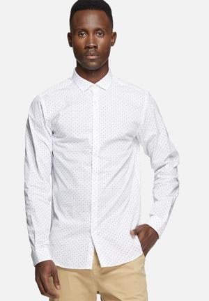Jack & Jones Premium Rack Slim Shirt White & Blue