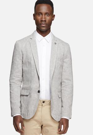 Jack & Jones Premium Harry Slim Blazer Jackets & Coats Light Grey Melange