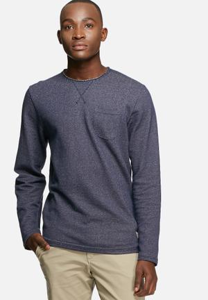 Jack & Jones Vintage Edison Sweat Hoodies & Sweatshirts Navy