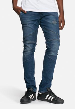 GUESS Adam Skinny Biker Jeans 93cm