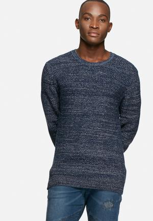 GUESS Mottled Knit Knitwear Blue