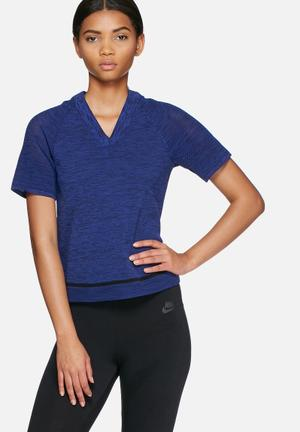 Nike Tech Knit Top T-Shirts Blue
