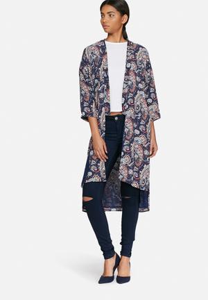 ONLY Smart Kimono Jackets Navy