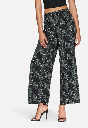Jacqueline De Yong Beat It Palazzo Pants Trousers Black
