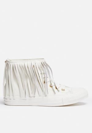 Converse Chuck Taylor All Star Hi Fringe Sneakers Egret / White