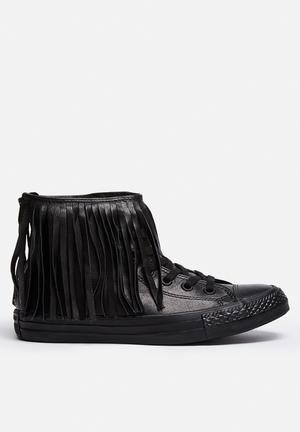 Converse Chuck Taylor All Star Hi Fringe Sneakers Black