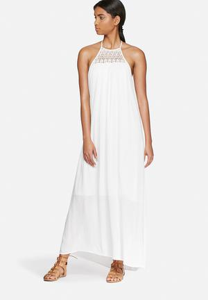 Vero Moda Crinkla Maxi Dress Casual White