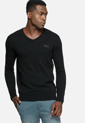 Superdry. Orange Label Knit Knitwear Black