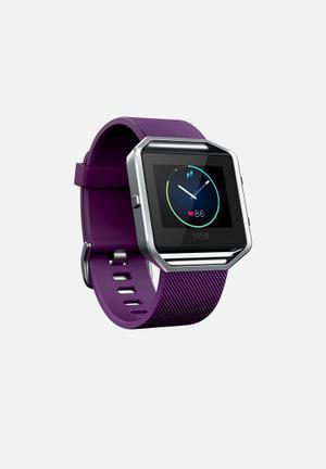 Fitbit Fitbit Blaze Fitness Trackers & Accessories Plum & Silver