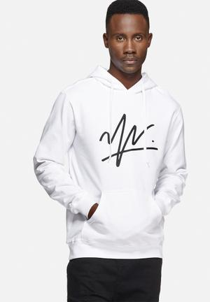 Young And Lazy Signature Logo Hoodie Hoodies & Sweatshirts White