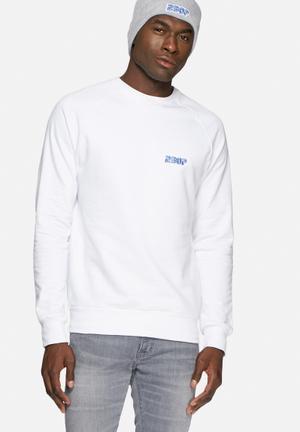 2Bop Embroidered Sega Crew Hoodies & Sweatshirts White