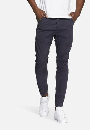 Only & Sons Drape Slim Cuffed Pants Navy