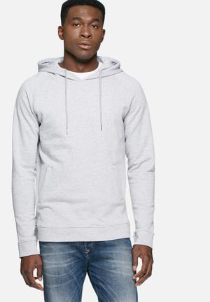 Basicthread Pull Over Hoodie Hoodies & Sweatshirts Grey Melange