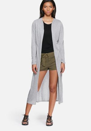 Kasana slit long cardigan