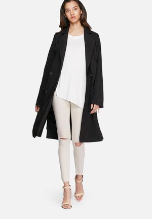 VILA Rant Trench Coat  Black