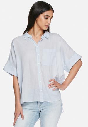VILA Jukka Shirt Blue / White