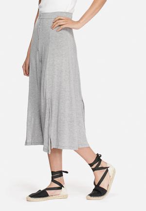 VILA Semra Long Skirt Grey Melange
