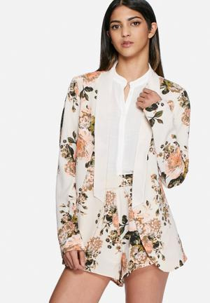 VILA Flourish Spring Blazer Jackets Cream / Multi