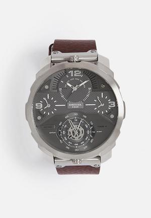 Diesel  Machinus Watches Brown & Silver